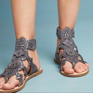 Cecilia NY Anthropologie Bubbly Gladiator Sandals